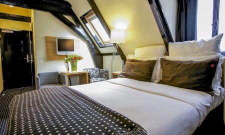 Quarto Duplo Pequeno - Hotel Vondel - Amsterdã
