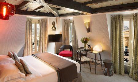 Chambre Deluxe Panthéon - 2 Coupes de Champagne offertes - Hotel Les Dames Du Pantheon - Paris
