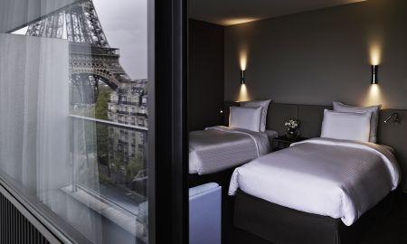 Chambre Deluxe Twin avec vue Trocadero et Tour Eiffel - Pullman Paris Tour Eiffel - Paris