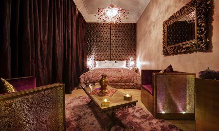 Chambre Standard (Wifi gratuit, Petit déjeuner Gratuit, Parking Gratuit) - Riad Wow Marrakech - Marrakech