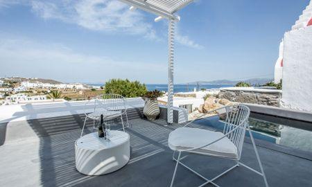 Honeymoon Suite - Private Pool - Sea View - Ostraco Suites - Mykonos