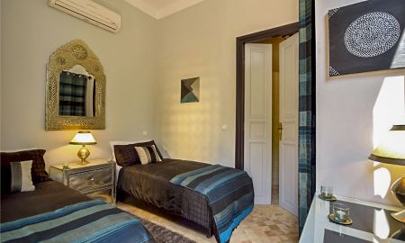 Chambre Blue Twin - Villa Dinari - Marrakech