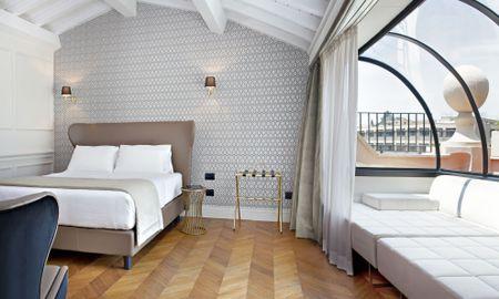 Royal Suite - Balcony - The Corner Rome - Roma