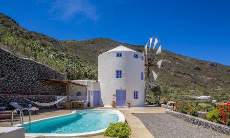 Villa Maître - Piscine Privée avec vue sur la mer - Windmill Villas - Santorini