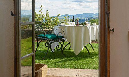 Appartement Jardin Duplex - Hotel Chateau De Bagnols - Rhône-alpes