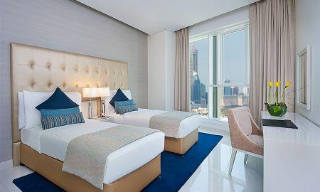 Suite deux Chambres - Vue sur Centre-Ville - DAMAC Maison The Vogue - Dubai