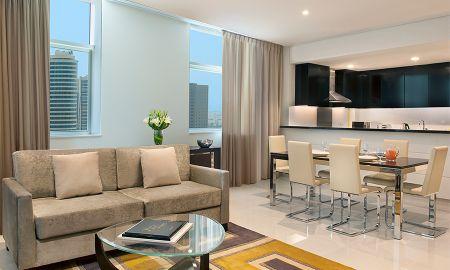 Suite une Chambre - Vue sur Centre-Ville - DAMAC Maison Cour Jardin - Dubai