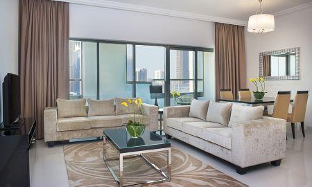 Suite deux Chambres - Vue Burj Khalifa - DAMAC Maison De Ville Breeze - Dubai