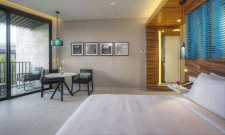 camera vista parziale oceano con letto matrimoniale - Grand Hyatt Playa Del Carmen Resort - Playa Del Carmen