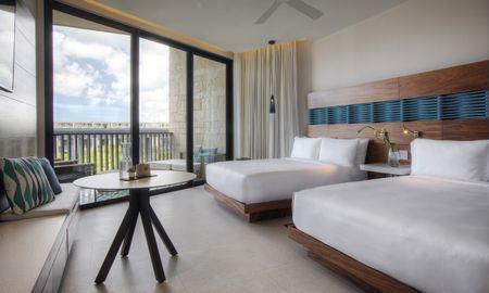 camera vista parziale oceano con due letti queen size - Grand Hyatt Playa Del Carmen Resort - Playa Del Carmen