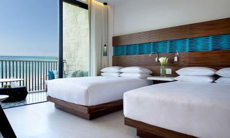 Camera fronte mare con due letti matrimoniali - Grand Hyatt Playa Del Carmen Resort - Playa Del Carmen