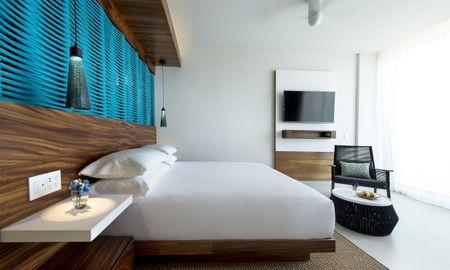 Camera fronte mare con letto matrimoniale - Grand Hyatt Playa Del Carmen Resort - Playa Del Carmen