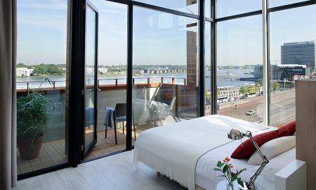 Penthouse Um Quarto - Vista ao Rio - Eric Vökel Boutique Apartments - Amsterdam Suites - Amsterdã
