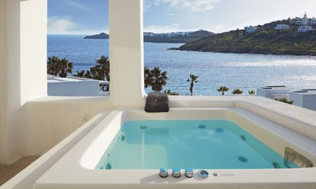 Junior Suite with Outdoor Hot Tub - Kensho Boutique Hotel & Suites Ornos - Mykonos