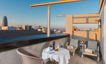 Camera Doppia Deluxe con Terrazza e accesso alla SPA - Sallés Hotel Pere IV - Barcellona