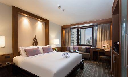 Cama King Deluxe - The Sukosol Hotel Bangkok - Bangkok