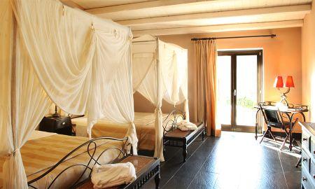 Chambre Supérieure Fattoria - Vue Jardin - Falconara Charming House & Resort - Sicile