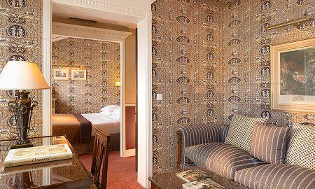 Suite Junior Romantique avec Terrasse - Hôtel Des Grands Hommes - Paris