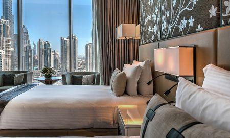 Представительский номер Твин - Вид на Бурдж-Халифа - Pullman Dubai Downtown - Dubai