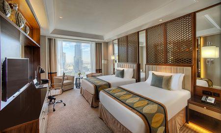 Chambre Luxury Twin bed - Vue sur Burj - Taj Dubai - Dubai