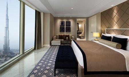 Grand Suite Luxury King Bed - Vue sur Burj - Taj Dubai - Dubai