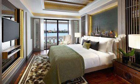 Suite de 2 dormitorios con vistas al rio Chao Phraya y accesdo al salon executive Kasara - Anantara Riverside Bangkok Resort - Bangkok