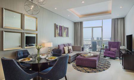 Suite deux Chambres - Vue Fontaine et Burj Khalifa - Damac Maison Royale The Distinction - Dubai