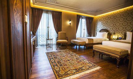 Chambre Twin Deluxe - Vue sur la Rue - Ajwa Hotel Sultanahmet - Istanbul