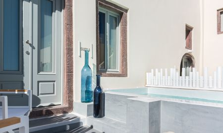 Senior Suite with outdoor heated plunge pool - Mythical Blue Luxury Suites - Santorini