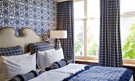 Номер с 1 кроватью или 2 отдельными кроватями - вид на канал - Hotel Estheréa - Amsterdam