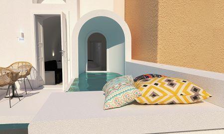 Suite Ejecutiva Doble - Vista Mar - Bañera de hidromasaje - Canvas Suites - Santorini