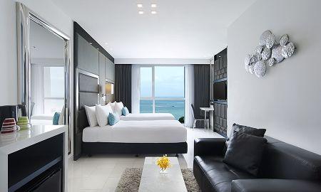 Угловой люкс с 2 спальнями - Напротив океана — - Amari Residences Pattaya - Pattaya