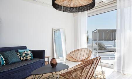 Suite Deluxe Vue Mer avec Piscine Privée - Kouros Boutique Hotel & Suite - Myconos