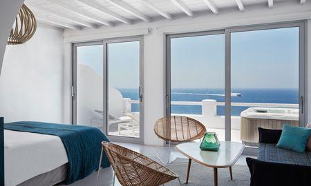 Deluxe Suite Sea View with Outdoor Jacuzzi - Kouros Boutique Hotel & Suite - Mykonos