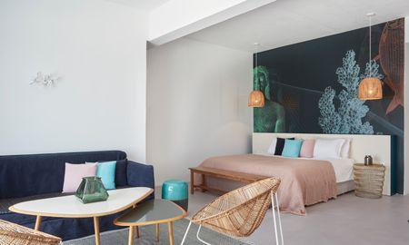 Suite Deluxe Vue Mer avec Jacuzzi Extérieur - Kouros Boutique Hotel & Suite - Myconos
