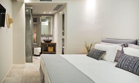 Villa Cuatro Dormitorios - Vista Mar con cuarto de baño privado exterior hot tub –M Villa TWO - M - Mykonos Villas - Mikonos