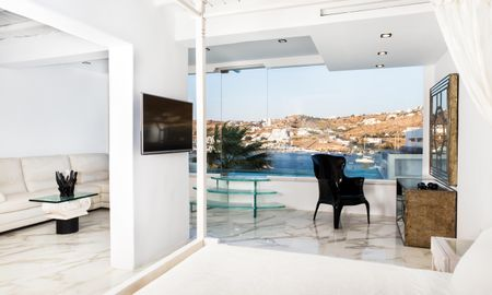 Kivotos Signature Suite 130 - Private Glass Pool - Kivotos Mykonos - Mykonos