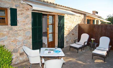 Doppelzimmer Mit Terrasse - Einzelbelegung - Cases De Son Barbassa - Balearische Inseln