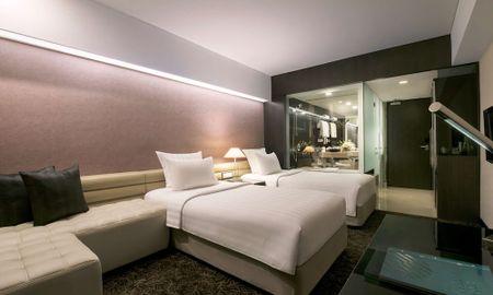 Quarto Premium Superior Twin - Vista Cidade - Pullman Jakarta Indonesia Thamrin CBD - Jacarta