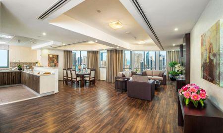 Апартаменты Премьер с тремя спальнями - Вид на пристань для яхт - City Premiere Marina Hotel Apartments - Dubai