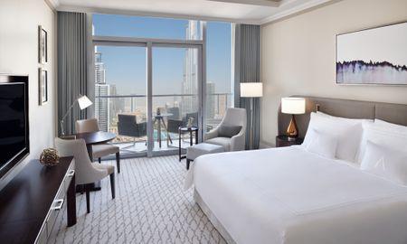 Номер Делюкс - вид на Фонтаном - Address Fountain Views - Dubai