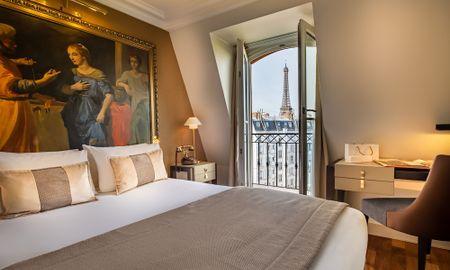Quarto Clássico - Vista à Torre Eiffel - Hotel Le Walt - Paris