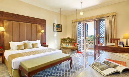 Deluxe Room King Bed with Sitout - Pratap Mahal - IHCL SeleQtions - Rajasthan
