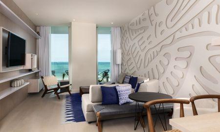 Suíte Deluxe Um Quarto Frente ao Mar - SLS Cancun - Cancun