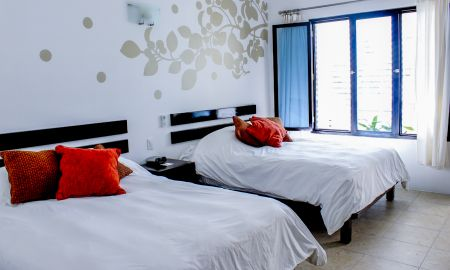 Standard Room 2 double beds - Hotel Casa Ticul - Playa Del Carmen