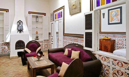 Suite 2 Quartos - 2 adultos + 2 crianças - Riad Casa Lila & Spa - Essaouira