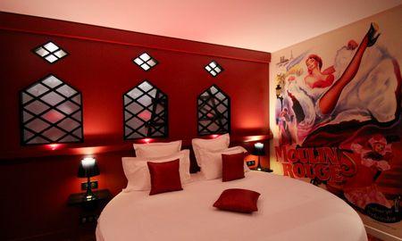 Chambre Moulin Rouge - Jacuzzi & Lit Rond - Secret De Paris – Hotel & Spa - Paris